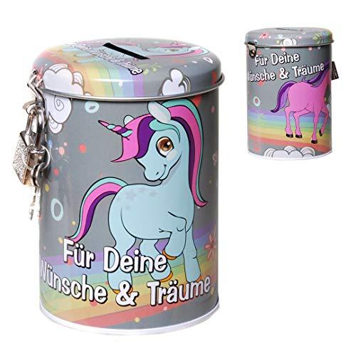 CH Trading, salvadanaio a forma di unicorno, dotato di lucchetto