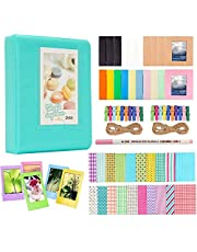 Anter Photo Album Accesorios para Fujifilm Instax Mini Camera, HP Sprocket, Polaroid Zip, Snap, Snap Touch Impresora Films con Film Stickers, Album & Frame (64 Pocket, Verde)