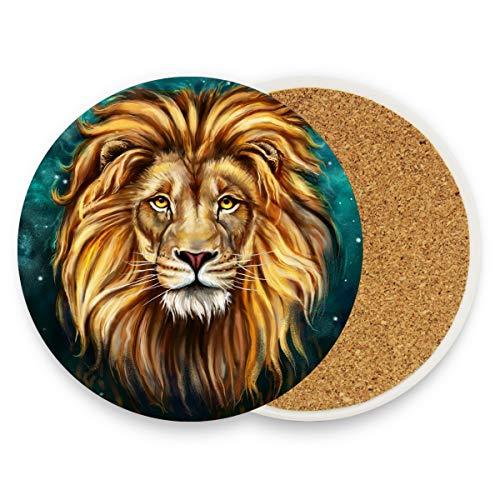 Malpalena King Lion Depots, Original Untersetzer für Getränke, Best Housewarming, Getränke, Bier, Hochzeitsliste, Holz, 1, 1 piece set