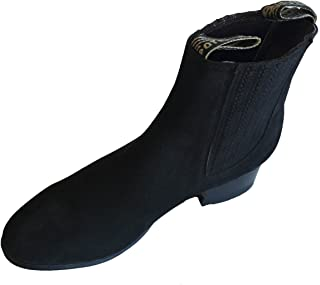 Men's Cowboy Boots Nubuck Leather Short Ankle Western Rodeo Biker Exotic