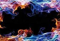 Amxxy 7x5ft火炎写真背景ブレイズ燃えるようなバーベキューパーティー背景写真撮影のための要約男性大人男の子ポートレート写真ブース小道具