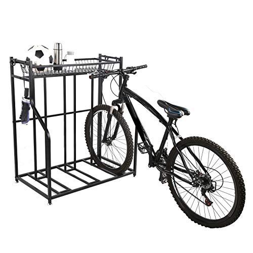Ejoyous Soporte para Aparcar Bicicletas, Portabicicletas de Suelo para 3 Bicicletas, Espacios...