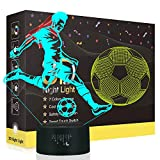 le Rugby 3D Illusion Lampes, LED Veilleuse 7 Couleurs Tactile Interrupteur USB Lampe, Lumière pour Décoration de maison Enfants D'anniversaire De Noël Cadeau