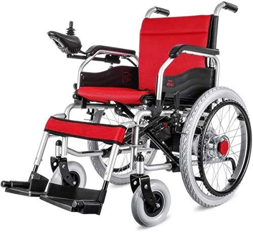 Sillas de ruedas eléctricas para adultos, sillas de ruedas autopropulsadas, portátiles, plegables, de acero, para uso en todas las superficies, para personas mayores y discapacitadas