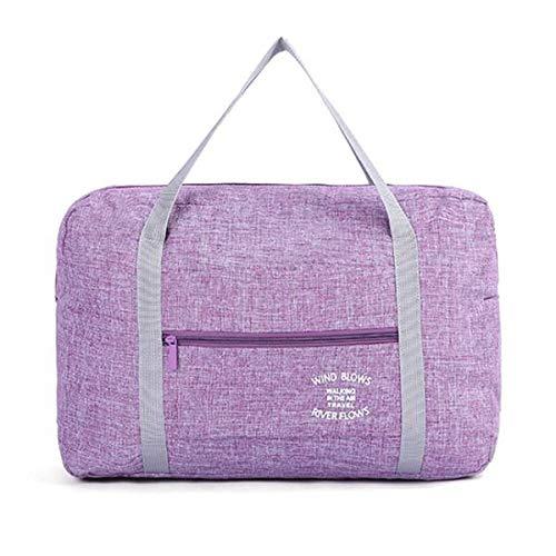 Fltaheroo Purple Waterproof Cosmetic Travel Bags Women Men Large Duffle Bag Travel Organizer Luggage Bags Packing Cubes Weekend Bag