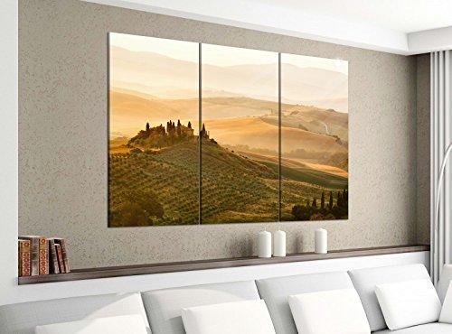 Acrylglasbilder 3 Teilig 120x100cm Landschaft Belvedere Toskana Druck Acrylbild Acrylglas Acrylbilder Wand Bild 14E1290, Acrylgröße 8:gesamt 120x100cm