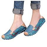 Chaussures à Pois décontractées Plates et Confortables en Cuir pour Femmes Mocassins Chaussures de Marche