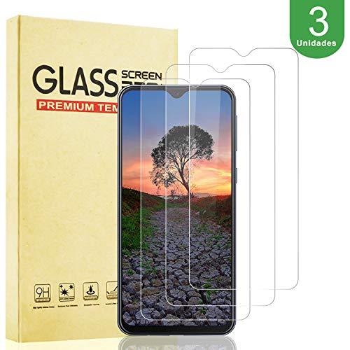 BOBI [3 Unidades] Protector de Pantalla para Samsung Galaxy M20 Vidrio Cristal Templado [9H Dureza][Resistente a Arañazos] [Alta Definición y Sensibilidad] [Sin Burbujas] [Instalación más Fácil]