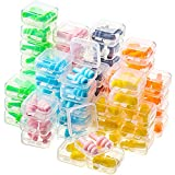 60 Pairs Silicone Ear Plugs with Case Soft Reusable Washable Earplugs Waterproof Ear Plugs for Sleeping Snoring Swimming Noise Cancelling and Hearing Protection