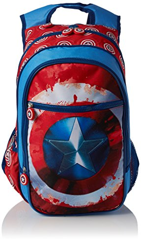 Marvel Captain America Shield Midi Backpack Sac à dos loisir 45 Centimeters Bleu (Bleu)