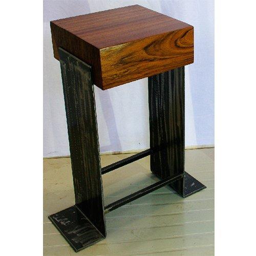 Wood Lab Tabouret : Modèle Biscuit Haut, H 63 cm
