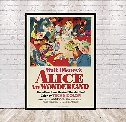 Alice New sales in Kansas City Mall Wonderland Poster Attractio Disney Vintage Movie