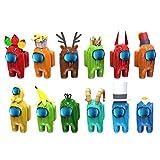 Tianbi entre Nosotros Muñecas 12 Piezas Lindas Figuras de Juegos Muñecas Colección de Muñecas de Dibujos Animados Regalo de Fiesta Decoración Del Coche en Casa Regalos para Fanáticos Del