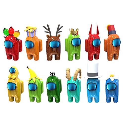 Figuras de Juego de muñecas, muñecas de Dibujos Animados, colección de Regalo de Fiesta para fanáticos de los Juegos, Lindos Adornos para la Oficina en casa, 12 Piezas, Color Aleatorio