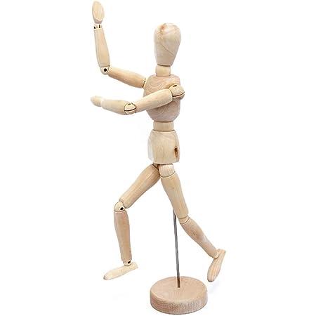 AROXIA デッサン人形 木製 (30cm) 鉛筆ホルダー 2個付き