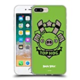 Head Hülle Designs Offiziell Zugelassen Angry Birds Bad Piggy Darsteller Badge Soft Gel Handyhülle Hülle Huelle kompatibel mit Apple iPhone 7 Plus/iPhone 8 Plus