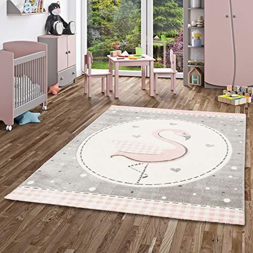 Pergamon Kinder Teppich Maui Kids Pastell Rosa Flamingo in 5 Größen