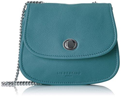 Liebeskind Berlin Damen Panama Panavi Umhängetasche, Handtasche, Blau (Lagoon Blue), 5x16x14 cm