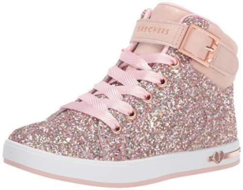 Skechers Kids Girl's Shoutouts-Sparkle ON TOP Sneaker, Rosegold, 1 Medium US Little Kid