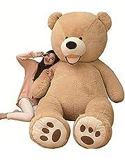 AMIRA TOYS ぬいぐるみ 特大 くま テディベア 可愛い熊 動物 大きい くまぬいぐるみ クマ 抱き枕 お祝い ふわふわぬいぐるみ 熊縫い包み クマ 抱き枕 お祝い ふわふわ お人形 女の子 男の子 子供 女性 抱き枕 プレゼント インテリア ビッグサイズ 3色選択
