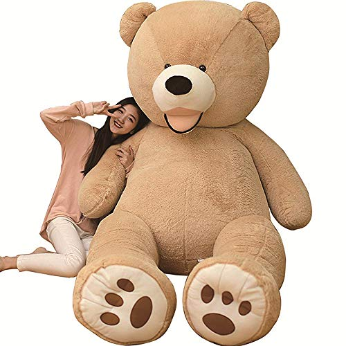 Amira Toys Extra Large Plush Teddy Bear, Cute Bear, Animal, Large Bear, Stuffed Toy, Hugging Pillow, Celebration, Fluffy Plush, Bear Sewing Wrap, Hugging Pillow, Celebration, Fluffy Doll, Girls, Boys, Children, Women, Hugging Pillow, Gift, Interior Design, Big Size, 3 Colors Available (Brown, 78.7 inches (200 cm)