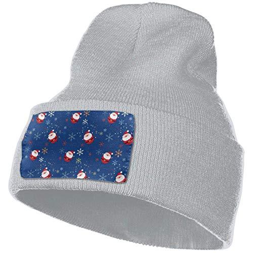 AEMAPE Strickmütze, Santa Claus Frauen Mütze Cap Winter Slouchy Strickmütze Fisher Hats Grey