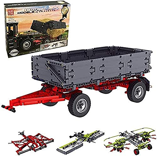 Technik Traktor Anhänger, Mould King...