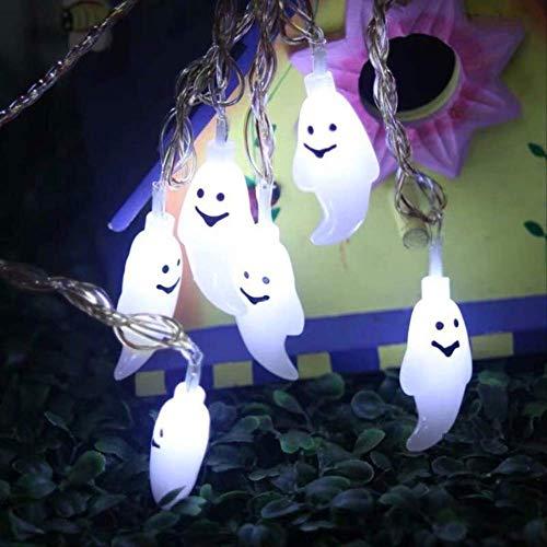 ZKCXIM Led Light Halloween Pumpkin Spider Bat Skull String Lamp Light Party Outdoor Decoration Room Vacation Indoor Lighting 3M 20Leds(Battery) G