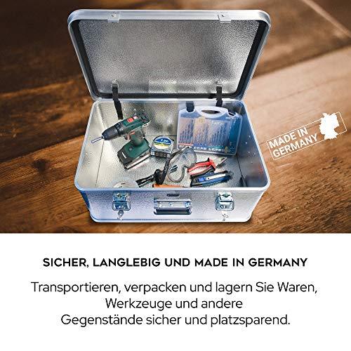 Alubox mit Deckel abschließbar - Alukiste Hemmdal PRO - Alu Box (42 L) groß - Profi Transportkiste - Transportbox Made in Germany - 3