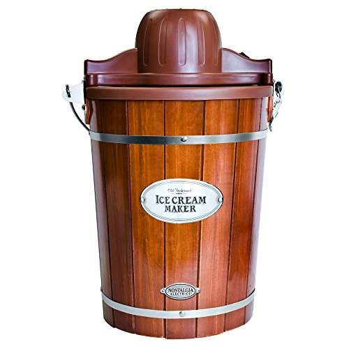 Nostalgia Electrics Vintage Collection Old Fashioned 6-Qt Wood Bucket Ice Cream Maker