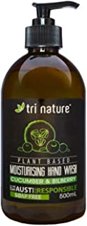 Tri Nature Moisturing Hand Wash - Cucumber and Bilberry, 500 ml