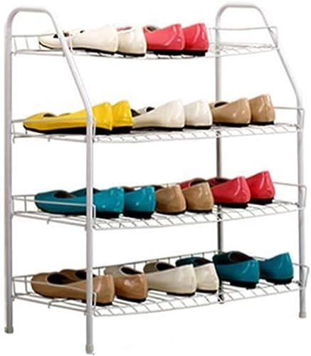 JJJJD Zapato de Cuatro Capas de Acero al Carbono Zapatero blanco (65 × 28 × 70CM)