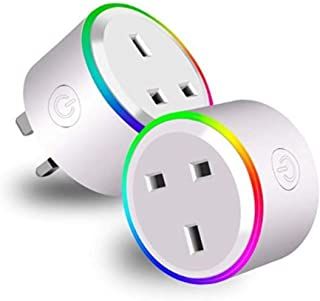 Wifi Smart Plug ( 2 Pcs in1 Pack ) iOS Android App Remote with RGB light compatible with Alexa, Google Home, IFTTT Control...