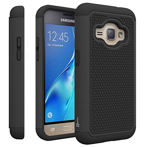 Samsung Galaxy Express 3 Case, CoverON [HexaGuard Series] Slim Hybrid Hard Phone Cover Case for Samsung Galaxy Express 3 - Black