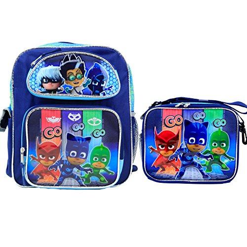 Nickelodeon PJ Masks Kids 12' Toddler School Backpack & Lunch Box USA Seller
