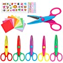 6-Pack LandJoy Colorful Decorative Paper Edge Kids Craft Scissor Set