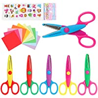 6-Pack LandJoy Colorful Decorative Paper Edge Kids Craft Scissor Set