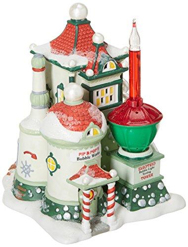 Pip & Pop 's Bubble Works Christmas Snow Village Building Dept 56 Caja