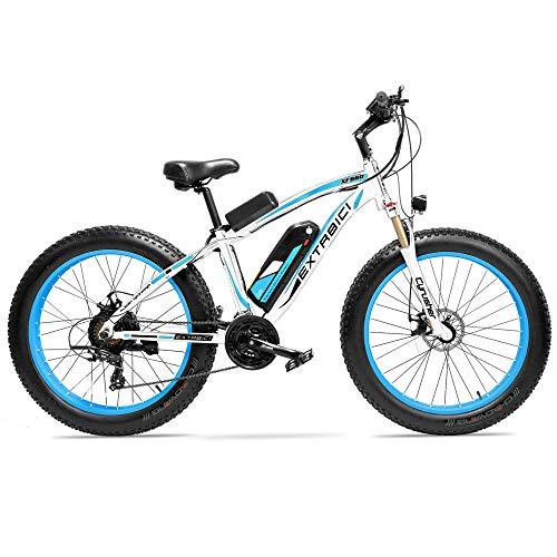 Cyrusher Fat Tire Bike Snow Bike Mountain Bike with Motor 1000W 48V 17ah Lithium Battery Extrbici...