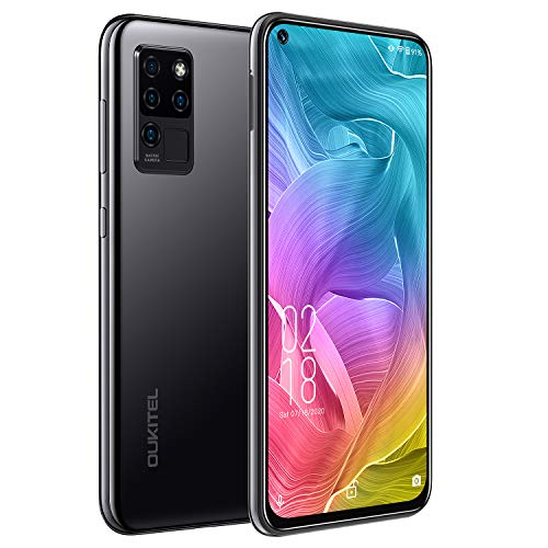 "OUKITEL C21 Smartphone, Display 6.4"" FHD+ DotDisplay, 4GB RAM+64GB ROM 4G Cellulari Offerte, 16MP Quad Fotocamere Posteriori+Fotocamera Selfie 20 MP, 4000mAh Batteria, Android 10 Cellulare, Nero"