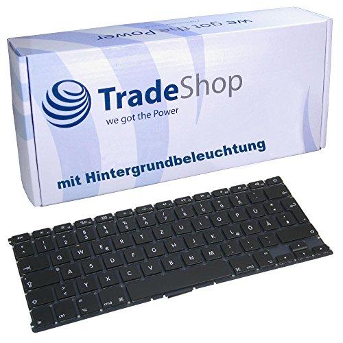 Trade Shop Premium Laptop Tastatur mit Hintergrundbeleuchtung Deutsch QWERTZ fur Apple MacBook A1369 A1466 MC965 MC966 MC503 Deutsches Layout