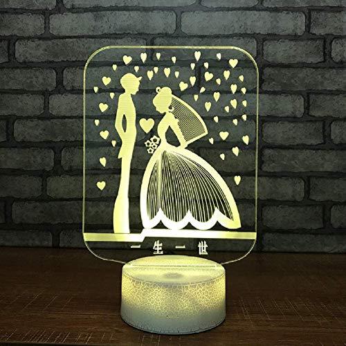 Hochzeitsgeschenke 3D Nachtlichter Neue ausgefallene Produkte Nachttischlampen Bunte Geschenke Weihnachtsschmuck Geschenk für Babyzimmer Lichter Tischlampe
