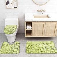 ZGDPBYF 浴室用アップホームバスマットグリーンバンブーリーフプリントバスマットシャワーフロア用カーペットバスタブマット