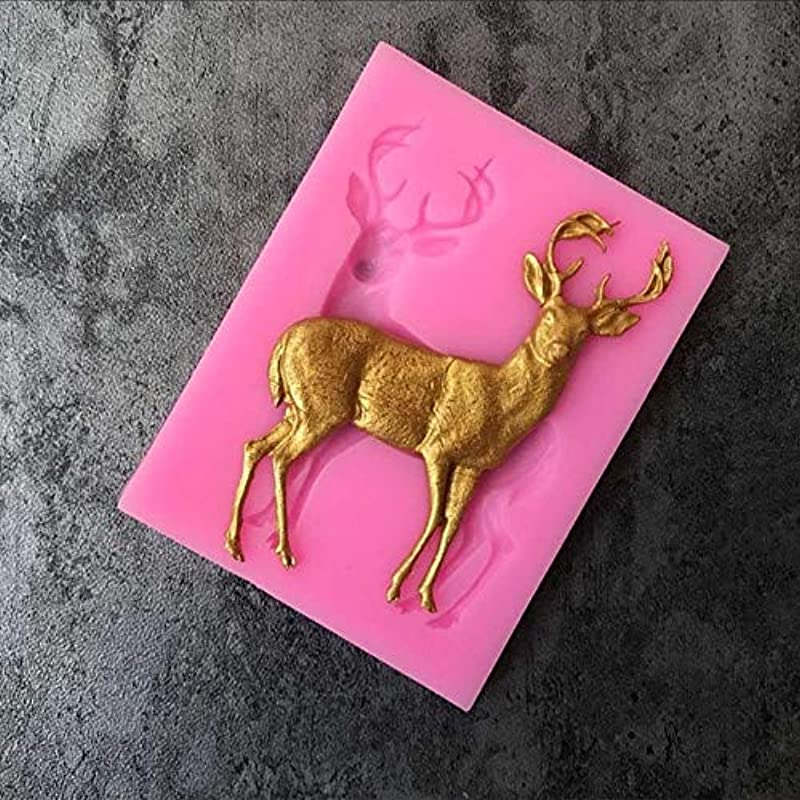Candy Making Molds Arts Silicone Mold Cake Cookie Merry Christmas Deer Decoration Cookie Cutter Shape Food Grade Silicone Cake Mold Cake Tools 1PC