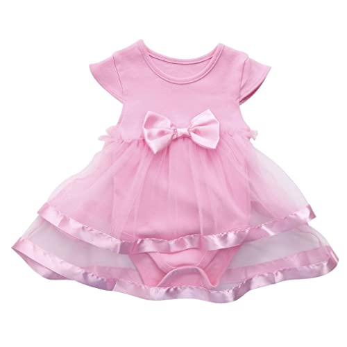 317234ab7a309 Toddler Newborn Baby Girls Birthday Bow Summer Clothing Party Jumpsuit  Princess Romper Tutu Dress, Infant