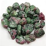 U/D. Natürlicher polierter Edelstein Rubin Zoisite Kristall getrommelte Steine  für Gartendekoration Trommelspannen zerquetscht (Color : Grün, Size : 300g)