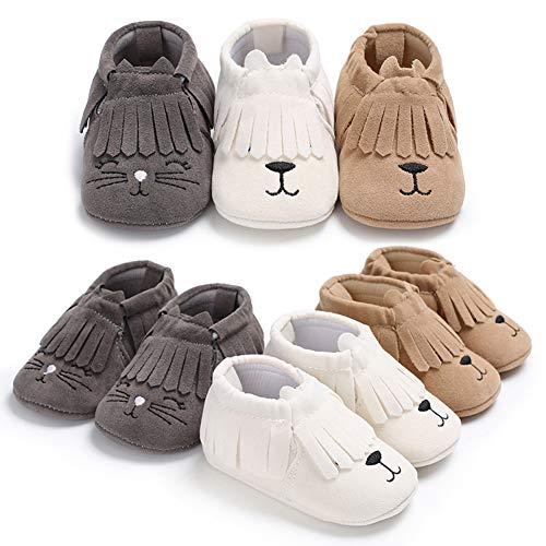 LYBfxq0621 Babyschuhe mit Fransen, für Neugeborene, Kleinkinder, Slipper, Grau - grau - Größe: Medium