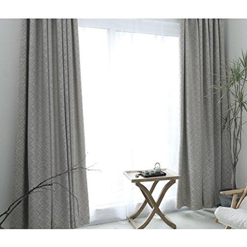 LINGZHIGAN Wavy Line Stripe pleine ombre rideaux de plancher rideaux de chambre Blackout Ready Made Eyelet rideaux occultants pour le salon avec deux tirettes assorties 2 panneaux (Size : 2.5 * 2.7m)