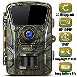 SGODDE Wildkamera,16MP 1080P Full HD 5.0 Jagdkamera Infrarot-Nachtsicht bis zu 65 Fuß/20m,42 IR LEDs Bewegungsmelder 120 ° Weitwinkelobjektiv IP66 Wasserdicht 2.4' LCD 0,7 Sekunden Auslösezeit (A)