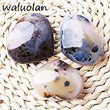 ERTERT Trendy corazón Forma Natural Cristal Marino Piedras Preciosas Pendientes Regalo de joyería DIY Hecho a Mano Cadena de Piedra Craft (Color : 50 60mm)